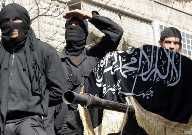 Integrantes do grupo jihadista Frente Nusra