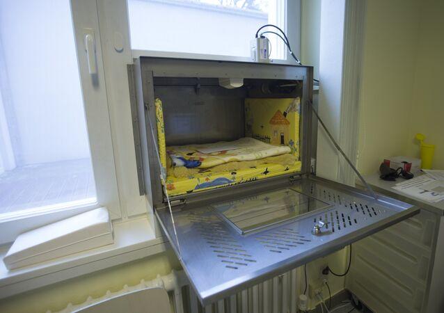 Baby box em Alemanha, no hospital de Waldfriede