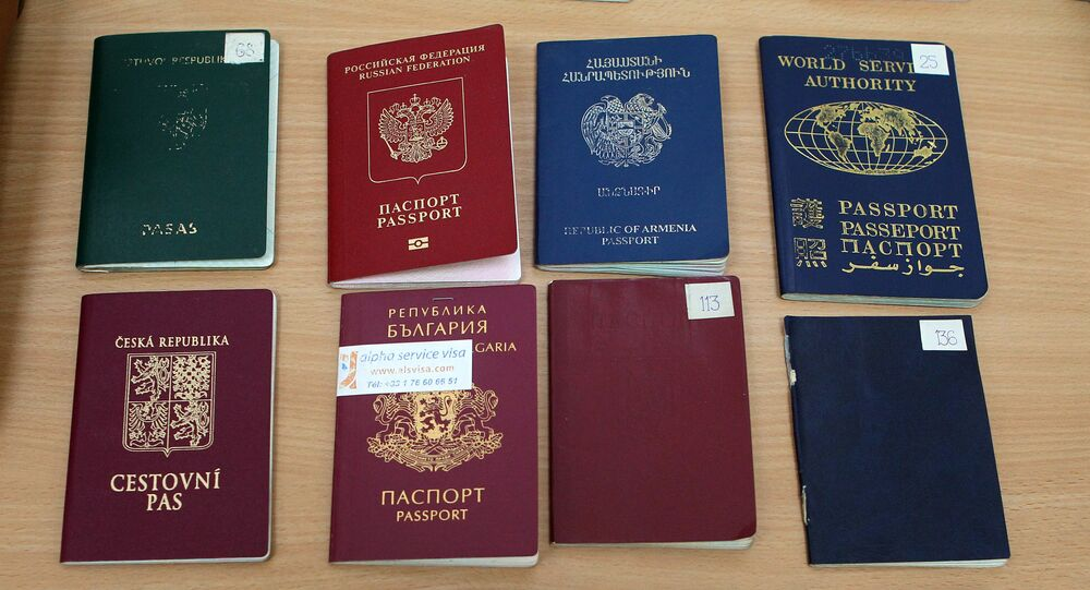 Passaportes de vários países do mundo