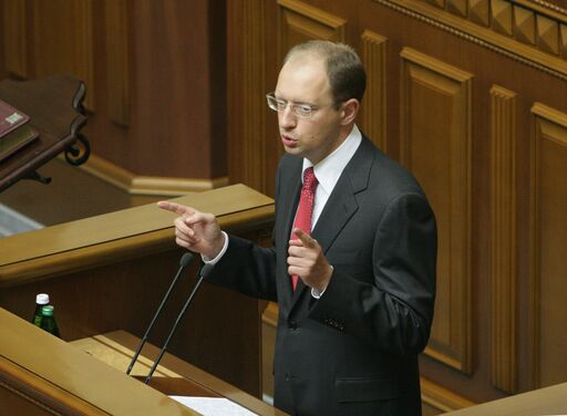 Arseniy Yatsenyuk, primeiro-ministro da Ucrânia
