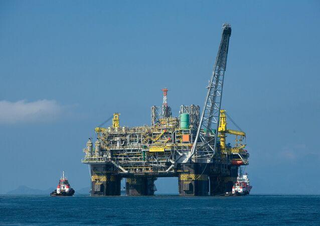 Plataforma de petróleo da Petrobras.