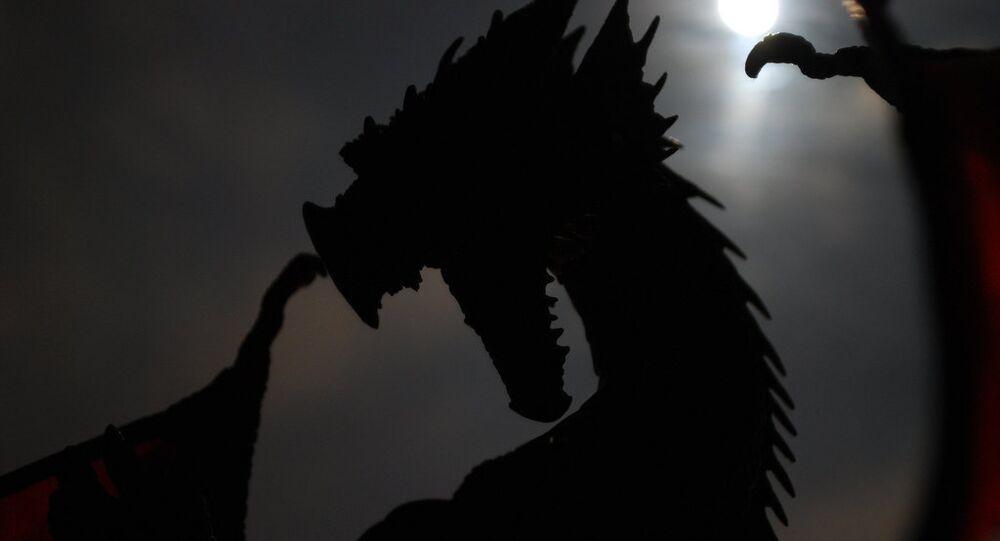 Silhueta de um dragão