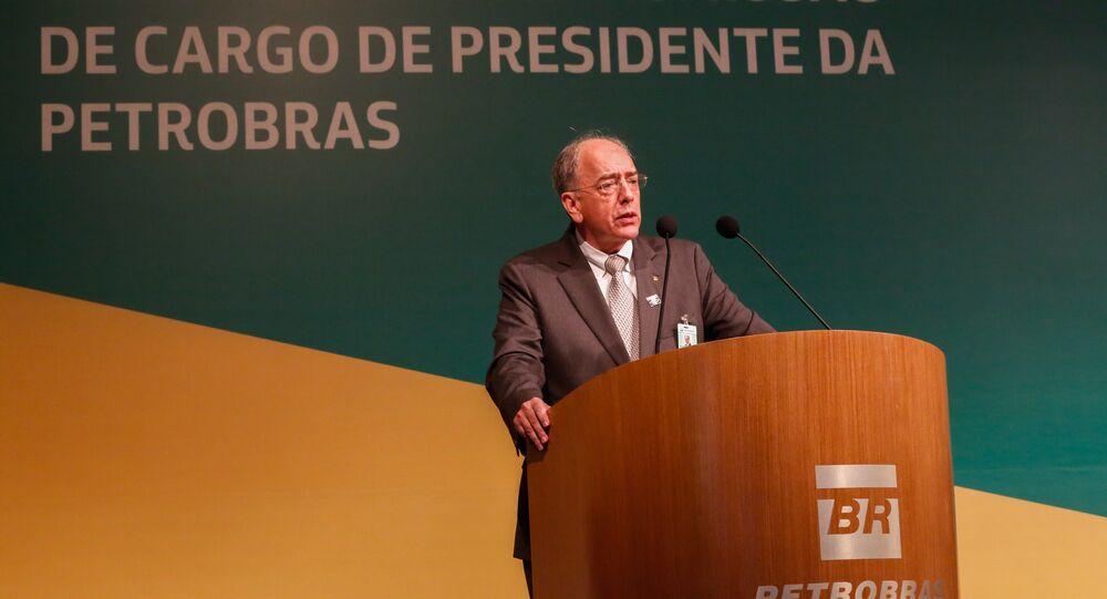 Cerimônia de transmissão de cargo ao novo presidente da Petrobras, Pedro Parente