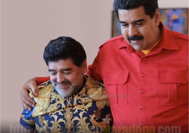 Diego Maradona e Nicolás Maduro