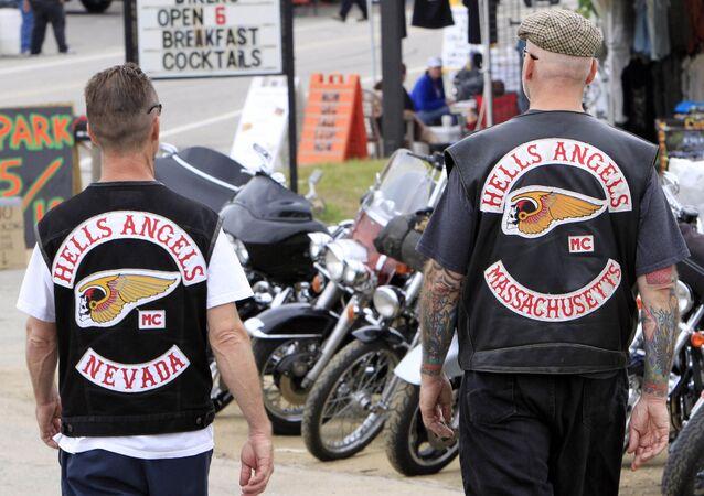 Membros do Hells Angels participam do festival Bike Week em New Hampshire (EUA)