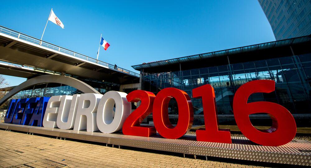 Lettres géantes Euro 2016 à Lille