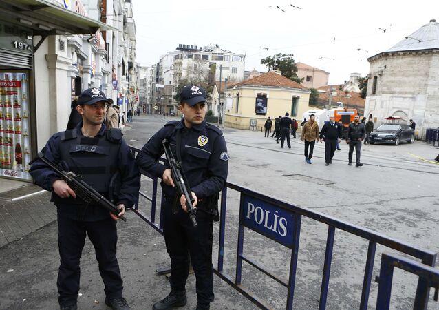 Polícia em Istambul