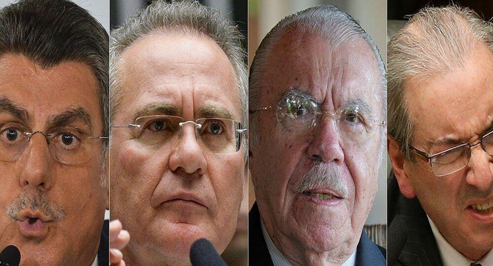 Rodrigo Janot pede prisão de Romero Jucá, Renan Calheiros, José Sarney e Eduardo Cunha