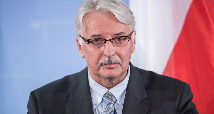 Witold Waszczykowski, o ministro das Relações Exteriores da Polônia