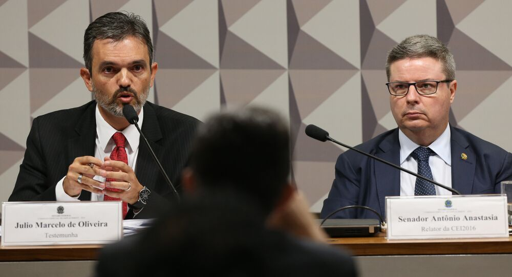 Procurador Júlio Marcelo de Oliveira, do TCU, na Comissão Especial do Impeachment.