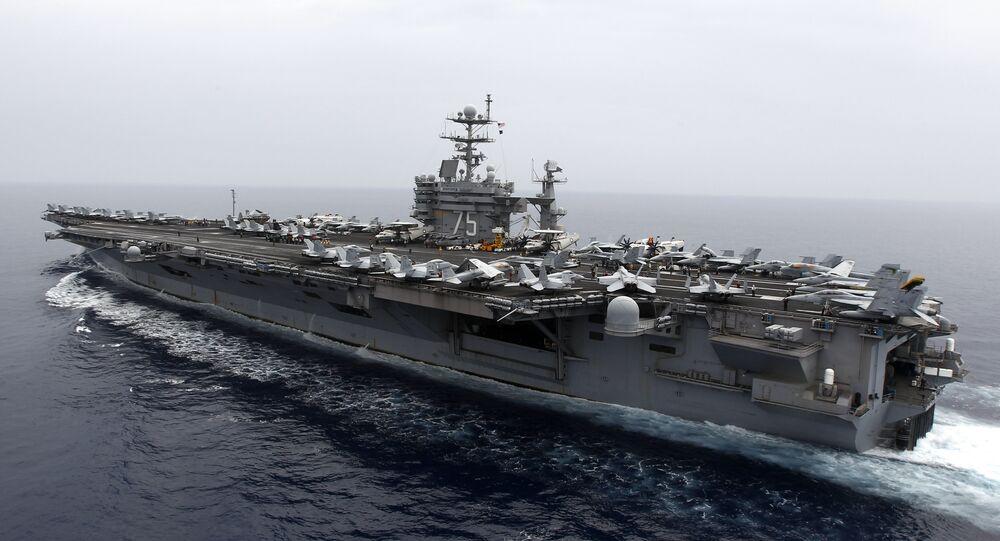 o porta-aviões USS Nimitz Harry S. Truman