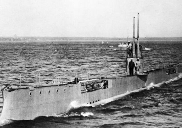 Submarino 'Tubarão' do Império Russo, foto de 1911