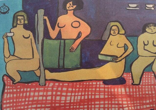 O restaurante nudista abriu  em Londres