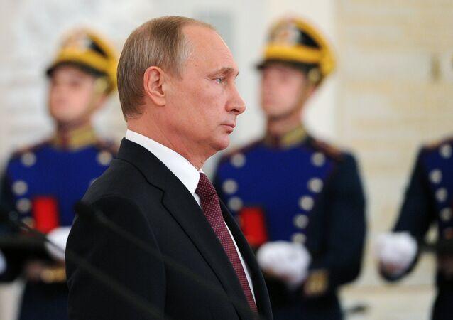 O presidente russo Vladimir Putin. 12 de junho de 2016