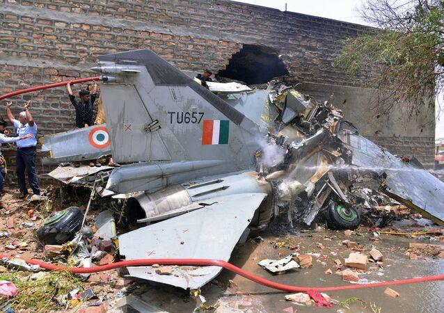 Caça Mig-27 caido na Índia, 13 de junho de 2016