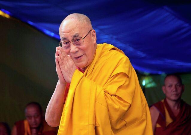 O 14º Dalai Lama, líder religioso da escola Gelug do budismo tibetano