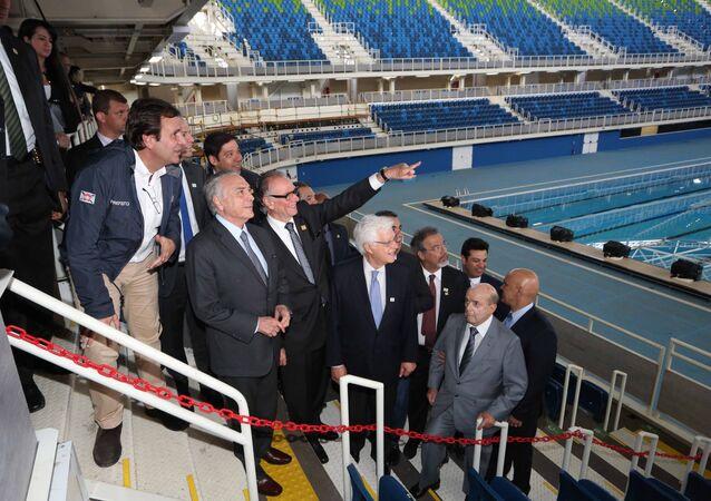 Michel Temer durante visita e reunião de trabalho no Parque olímpico no RJ