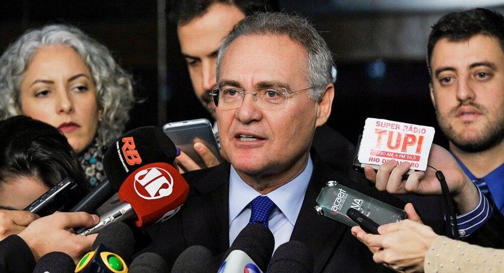 Renan Calheiros diz que PEC do limite aos gastos públicos deveria ficar para depois do impeachment.
