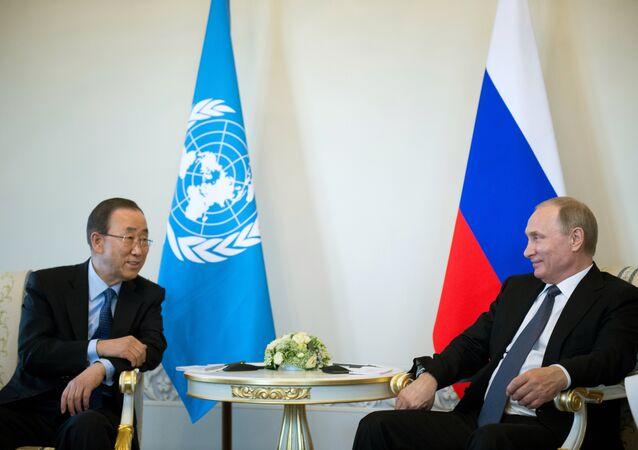 Vladimir Putin e Ban Ki-moon