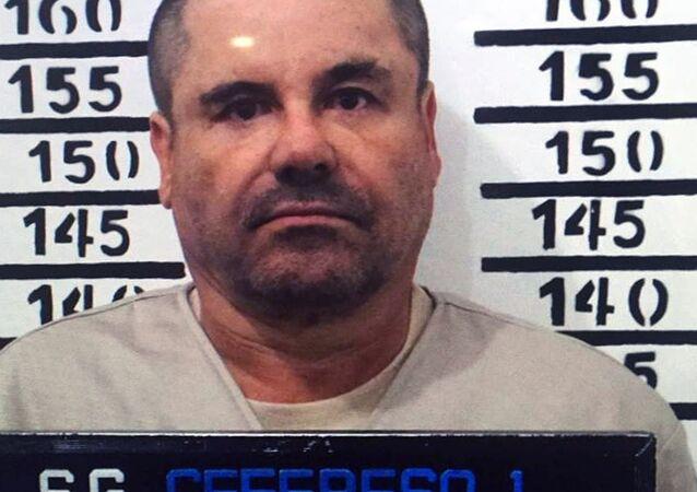 Foto de Joaquin Guzman Loera, apelidado de El Chapo, tirada pela polícia mexicana em 8 de janeiro de 2016