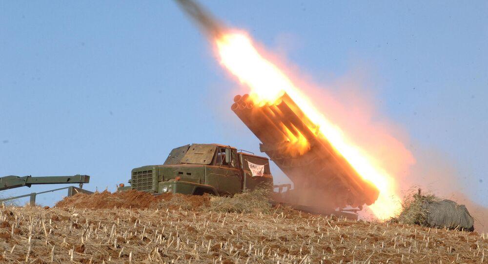 Lançador múltiplo de foguetes da Coreia do Norte