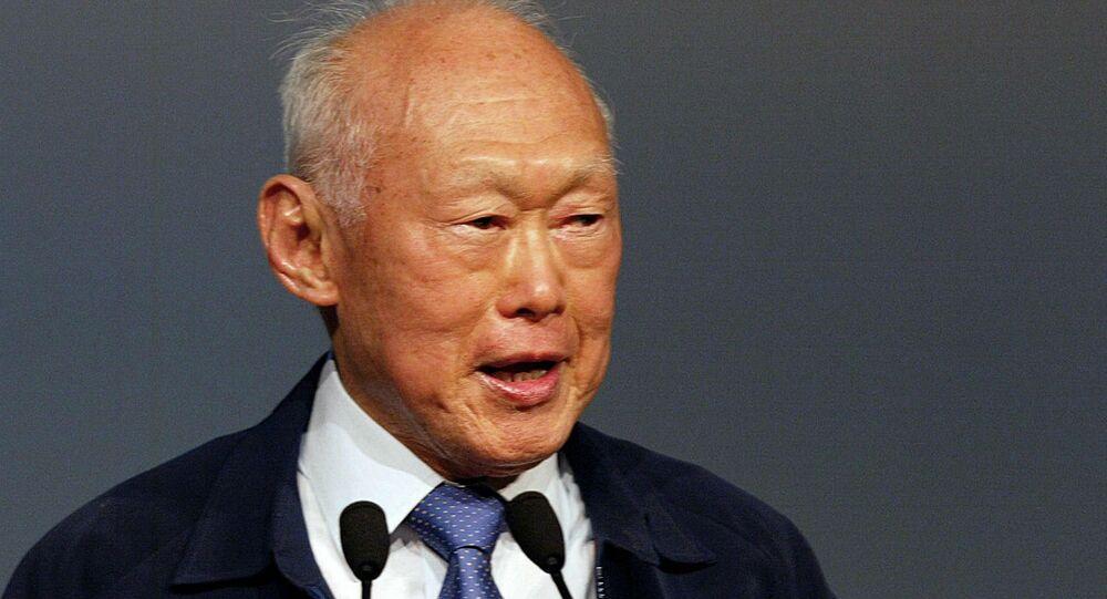 Lee Kuan Yew, fundador da Cingapura moderna.