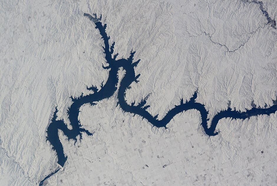 O rio Missouri (EUA) e a barragem Oahe