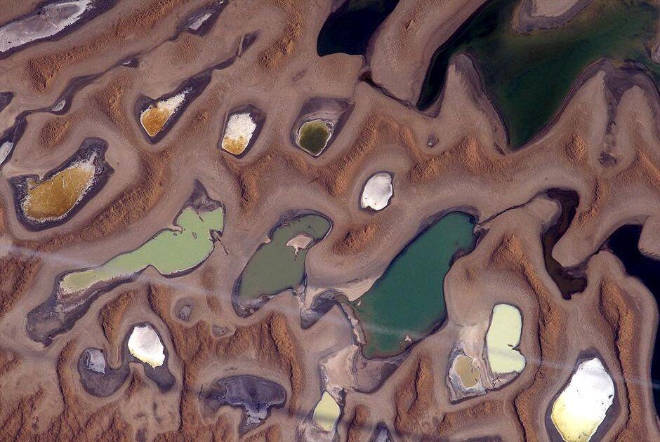 Uma série de lagos no Irã