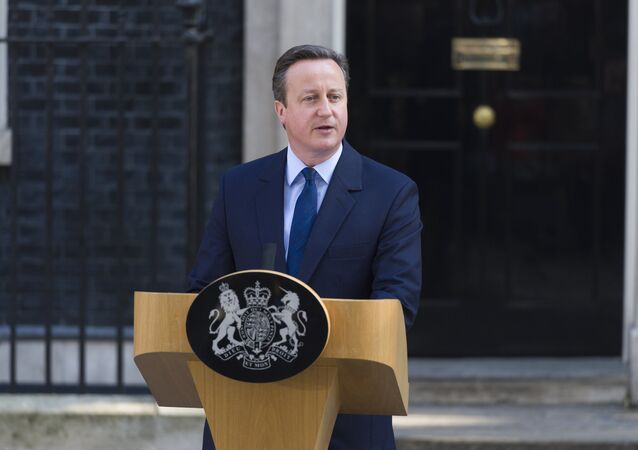 Primeiro-ministro britânico David Cameron anunciou a sua demissão depois do referendo, Londres, Reino Unido, 24 de junho de 2016