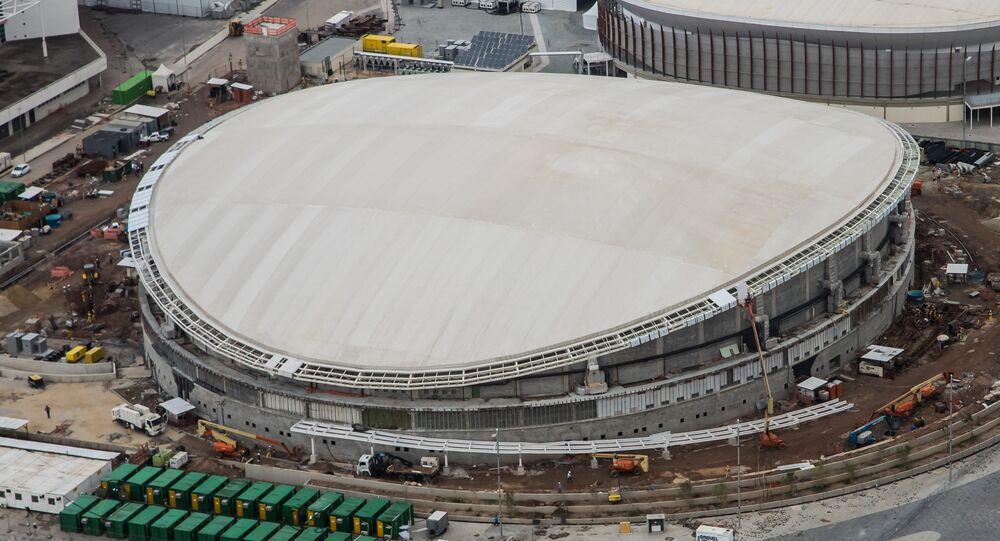 Vista aérea do Velódromo do Parque Olímpico