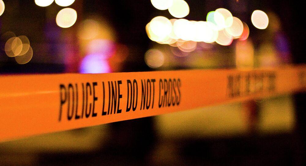 cordão de isolamento de polícia nos EUA