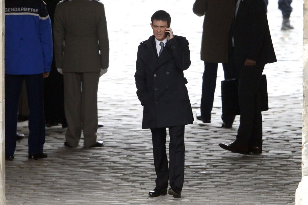 O premiê da França Manuel Valls em Paris