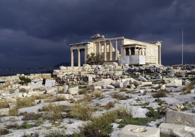 Acrópole de Atenas, monumento da cultura antiga, Grécia (foto de arquivo)