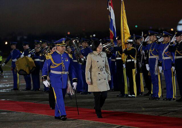 Presidenta de Taiwan, Tsai Ing-wen, chega ao Paraguai para visita de três dias