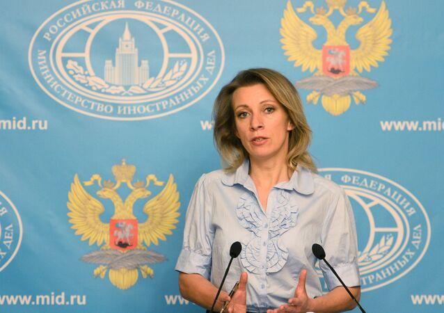 Representante oficial do Ministério das Relações Exteriores russo, Maria Zakharova.