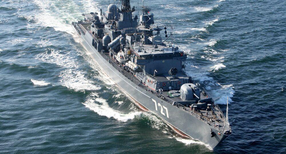 O navio de patrulha russo Yaroslav Mudry
