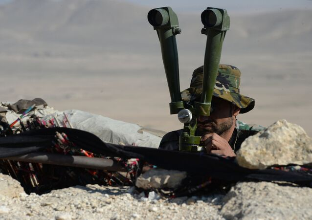 Um soldado do exército sírio a 7 km de Palmira (foto de arquivo)