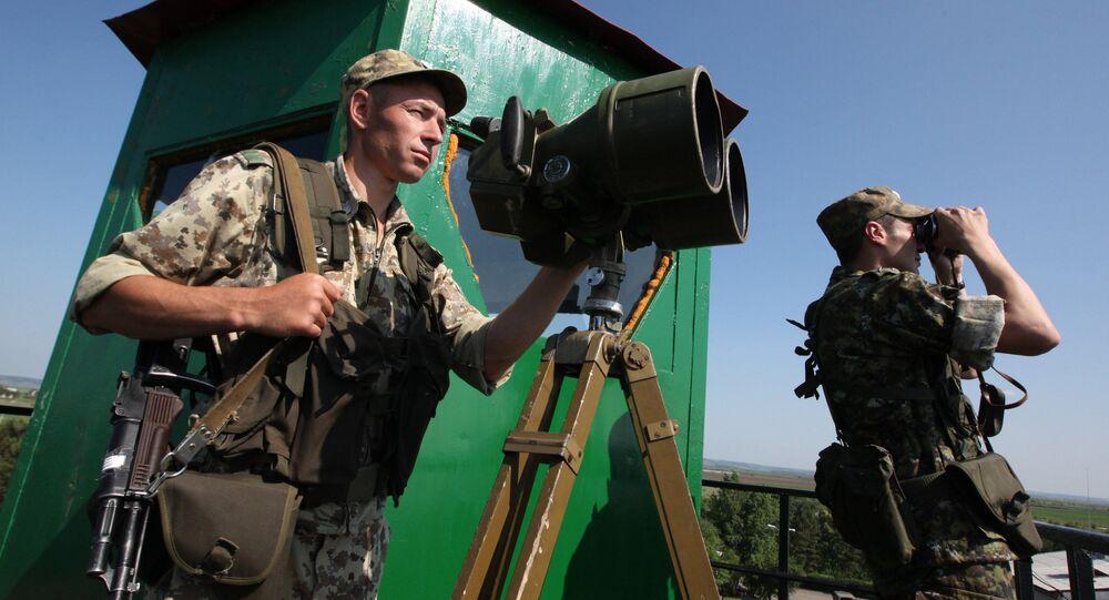 Os guardas de fronteiras do Serviço Federal de Segurança da Rússia