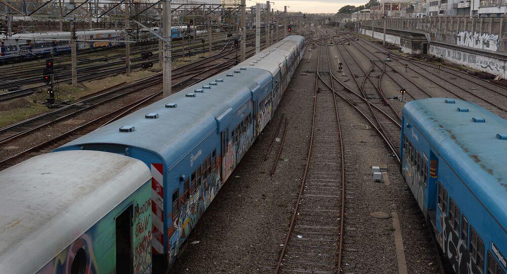 Estação de trens em Buenos Aires
