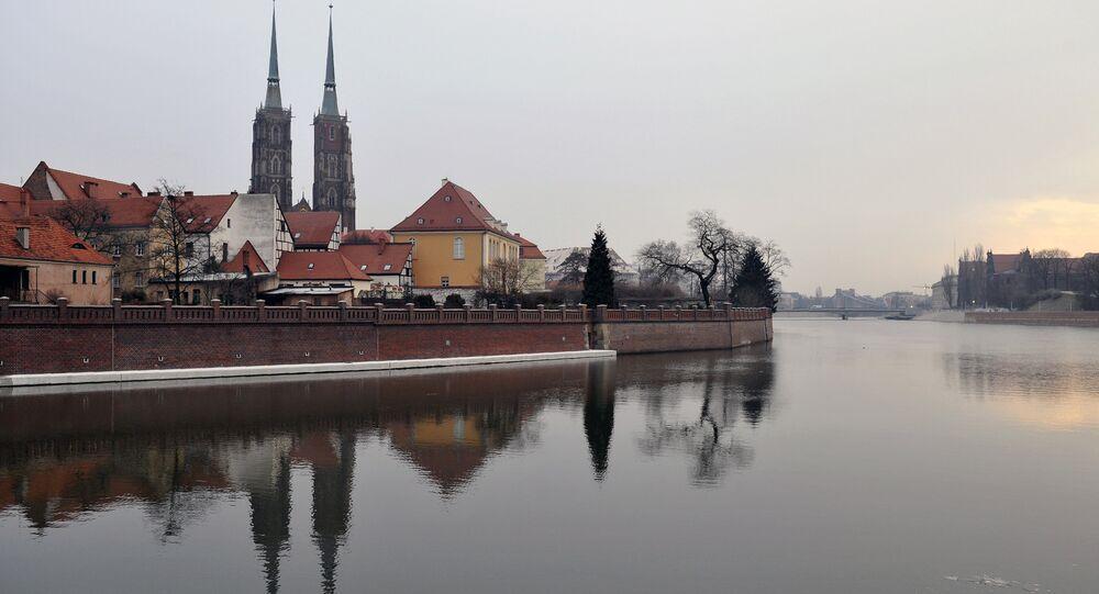 A ilha da Catedral, em Wroclav (chamada Breslau durante o domínio alemão), na Polônia (foto de arquivo)