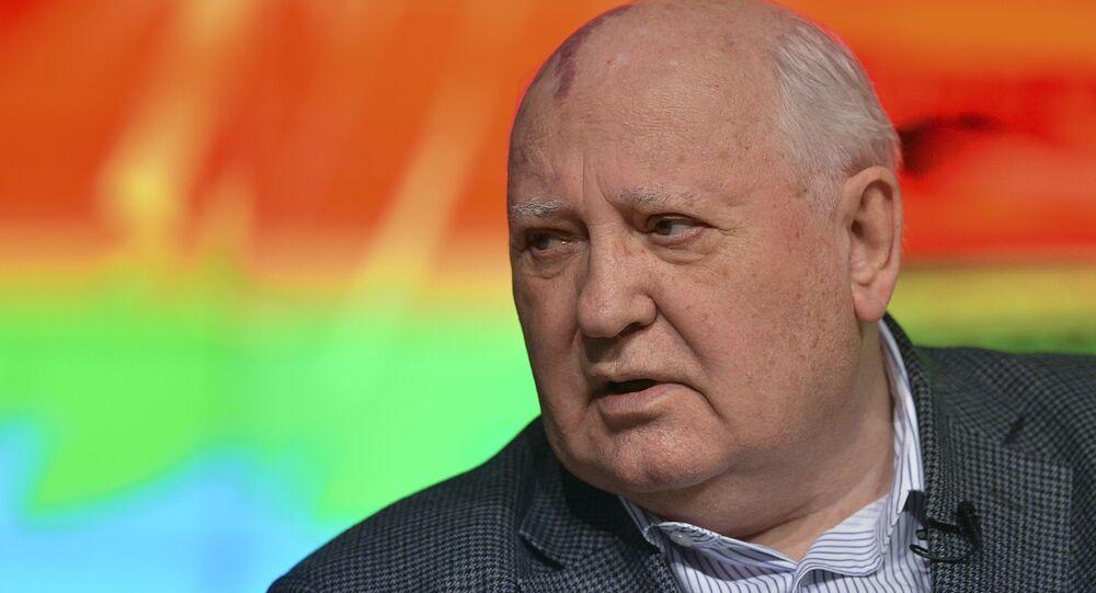 Mikhail Gorbachev em palestra