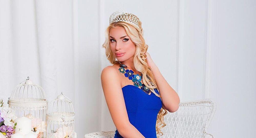 Olesya Ponamarenko, a vencedora russa do concurso de beleza para mulheres casadas