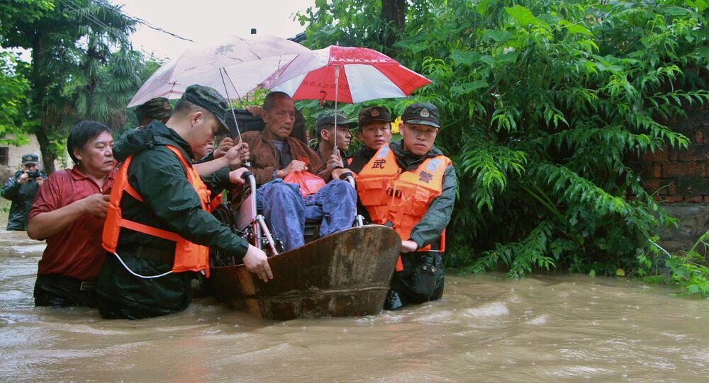 Chuva torrencial na China