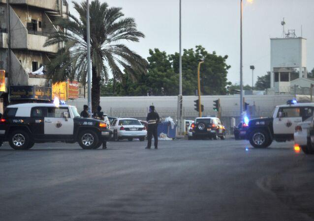 Policiais sauditas nas ruas de Jidá, na Arábia Saudita (arquivo)