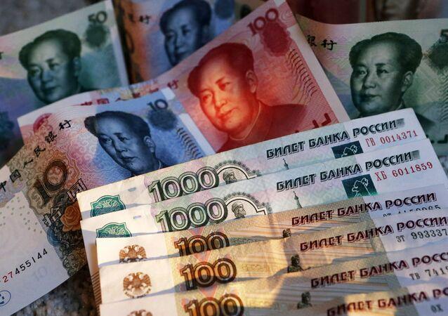 Rublos e yuans