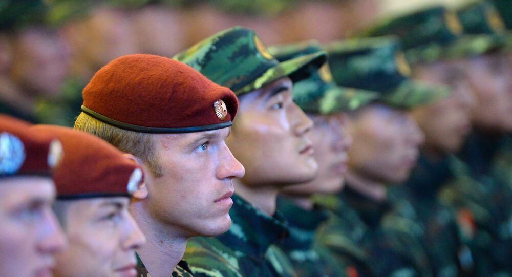 """Inauguração dos exercícios táticos conjuntos das forças especiais da Guarda Nacional da Rússia e da Polícia Armada do Povo da China (PAP) """"Cooperação-2016"""" (foto de arquivo)"""