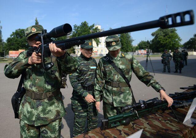 Inauguração dos exercícios táticos conjuntos das forças especiais da Guarda Nacional da Rússia e da Polícia Armada do Povo da China (PAP) Cooperação-2016