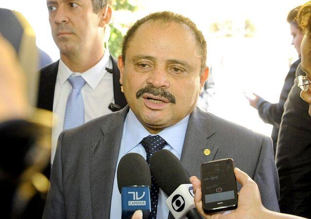 Presidente interino da Câmara dos Deputado Waldir Maranhao concede entrevista
