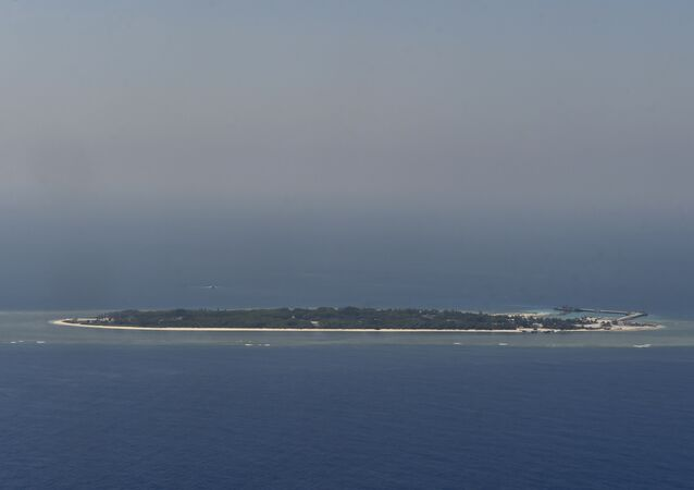 As ilhas Nansha (Spratly) no mar do Sul da China