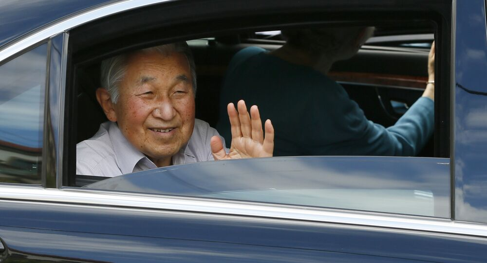 Imperador Akihito durante a sua visita às Filipinas. 28 de janeiro, 2016